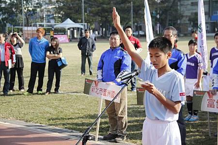 4.協和國小-蕭宇呈代表全體運動員進行宣誓。.JPG