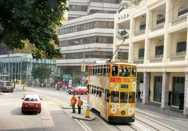 巴士上看香港