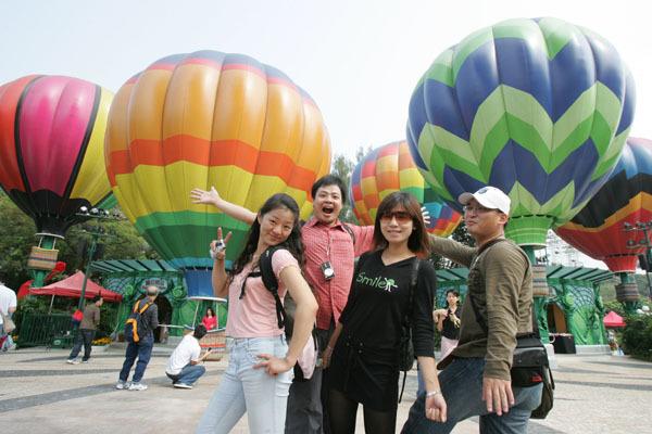 海洋公園的熱氣球