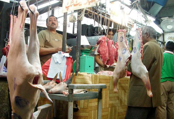尖沙嘴的豬肉攤