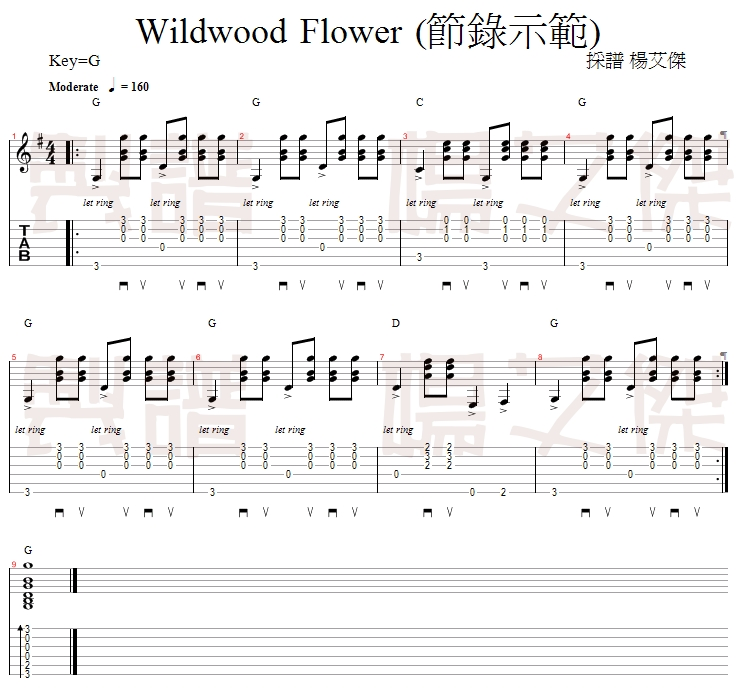 wildwood flower - page 1
