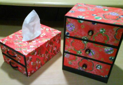 三段たんす+面紙盒