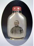 水晶內畫人物肖像鼻煙壺