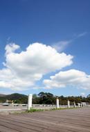 木棧道與藍天