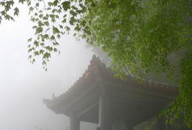 薄霧中的鐘樓