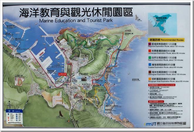 海洋教育與觀光休閒園區地圖