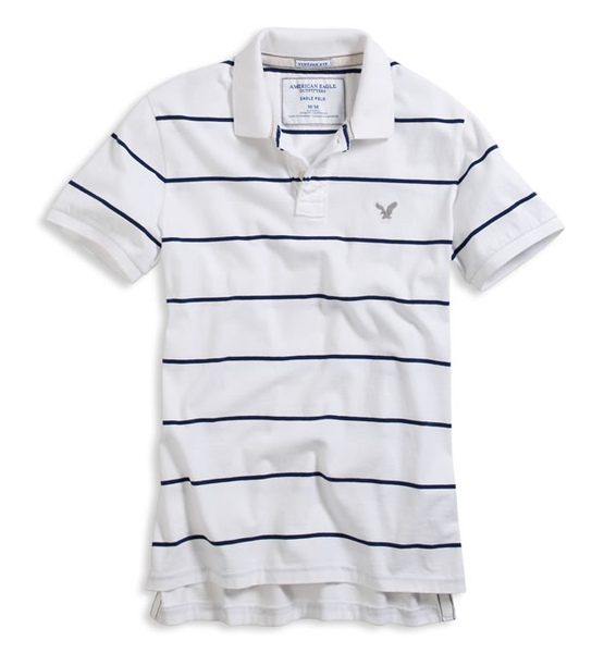 Eagle Easy Stripe Polo - White(14.95).jpg