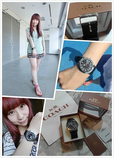 【流行】不同以往新風格錶款初體驗 * COACH 中性大錶面橡膠錶帶手錶 W500