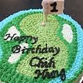 高爾夫果嶺造型蛋糕