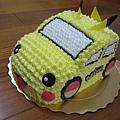 皮卡丘小車車造型蛋糕