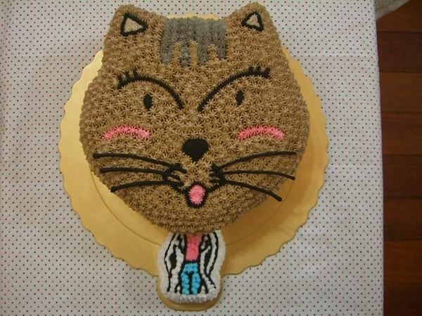 大頭貓咪造型蛋糕