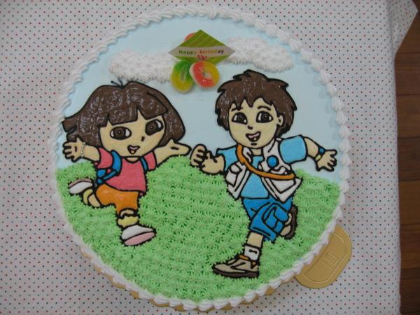Dora和Diego造型蛋糕