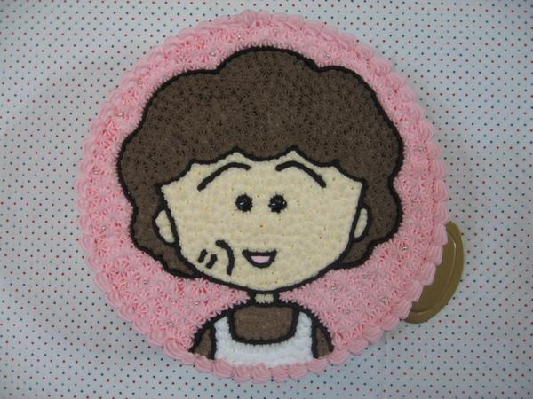 小丸子媽媽造型蛋糕