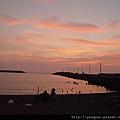 一家人親賞夕陽&海邊玩沙