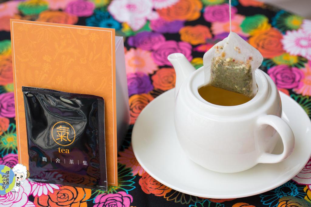 打開元氣茶包,還能看到一點點的菊花(台灣芳香萬壽菊)