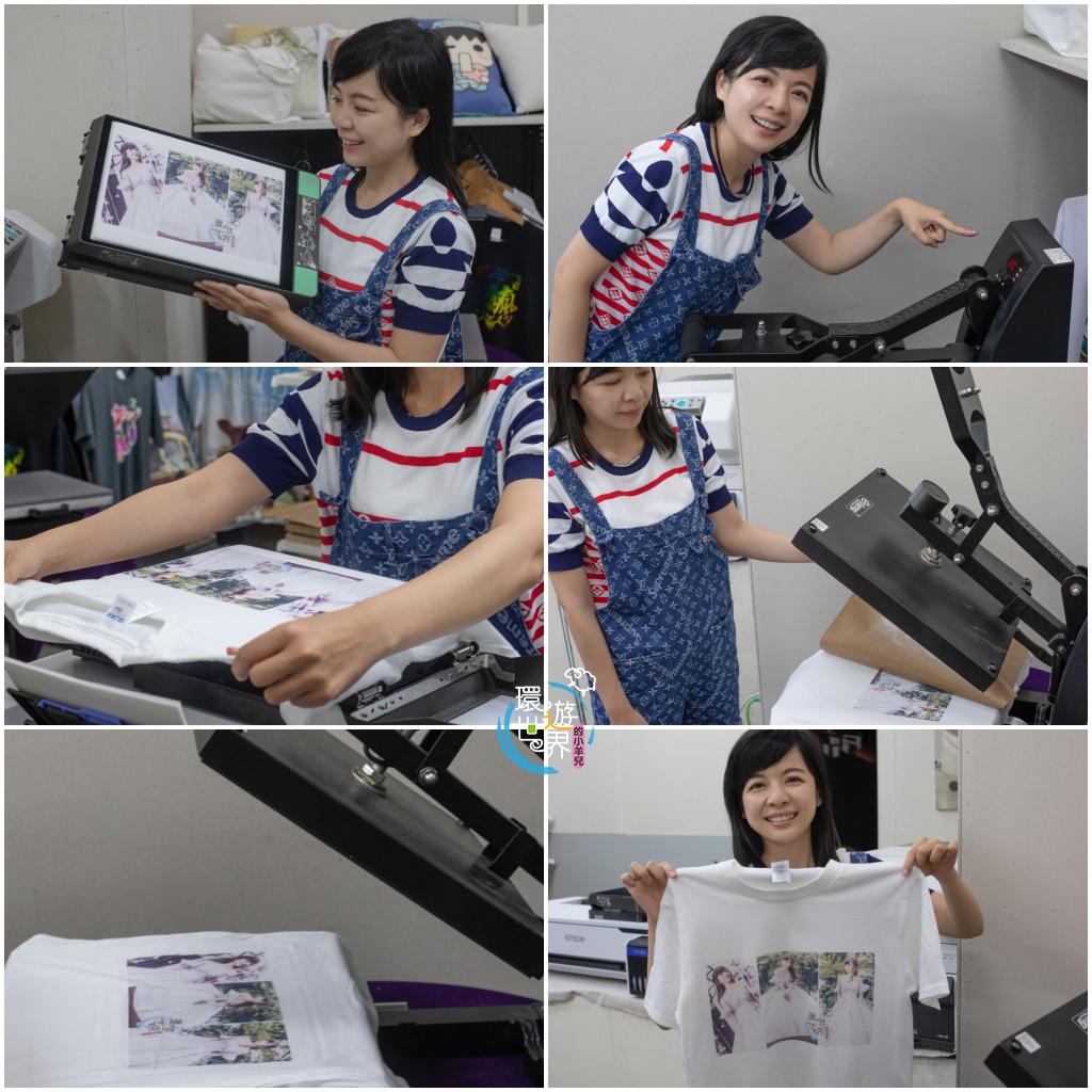 客製化T恤烘燙過程-熱轉印機推薦