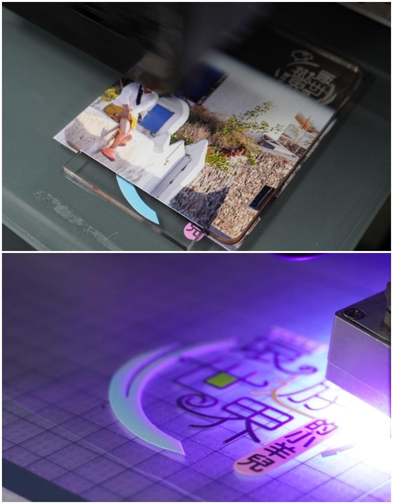 雷雕彩彩噴小夜燈噴印過程-UV直噴機推薦