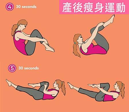 產後瘦身運動自然產剖腹產後運動2-2