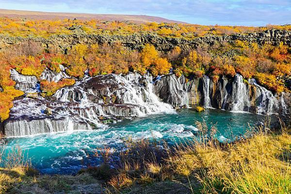 【東遊】冰島環島遊DAY9-朝聖冰島最美熔岩瀑布Hraunfossar 一起到草帽山等極光