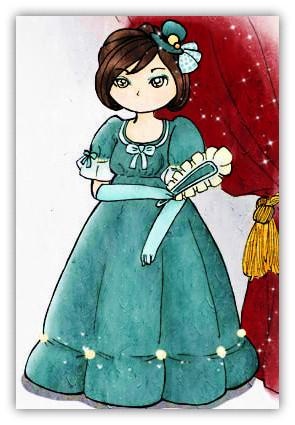 藍色殖民洋裝 _