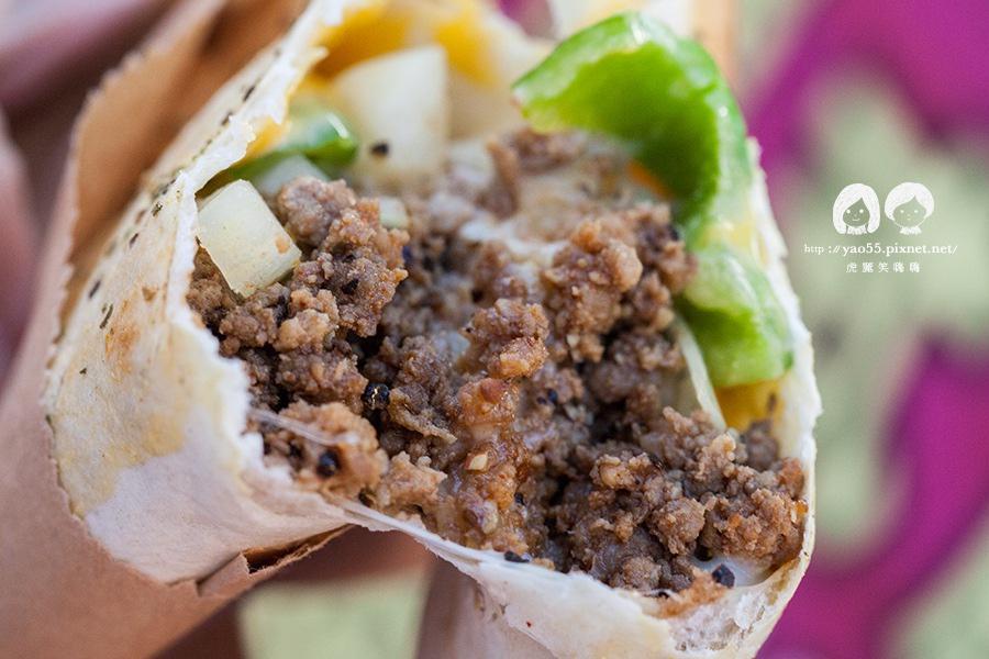 瑞豐夜市 芮克墨西哥烤餅 黑胡椒牛肉 NT65