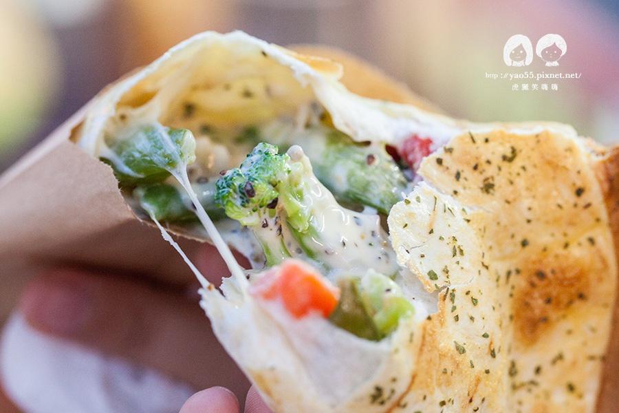 瑞豐夜市 芮克墨西哥烤餅 田園蔬菜 NT65