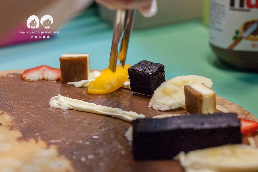 瑞豐夜市 MISHA 米夏軟式可麗餅 香蕉巧克力布郎尼NT70