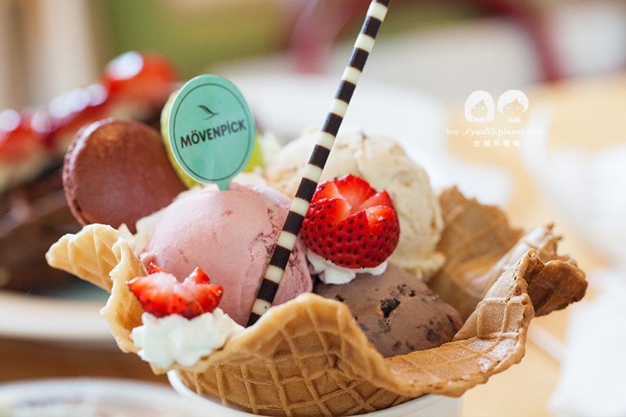 莫凡彼咖啡館 馬卡龍冰淇淋聖代 雙球NT280 三球NT360