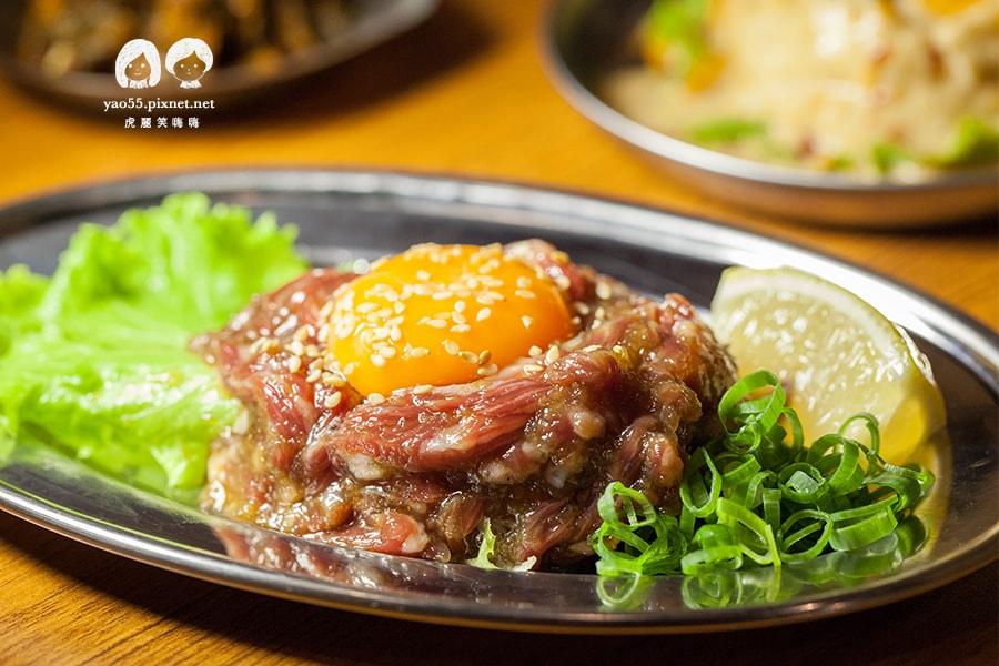 大阪燒肉雙子Futago 生蛋拌生牛肉 NT280