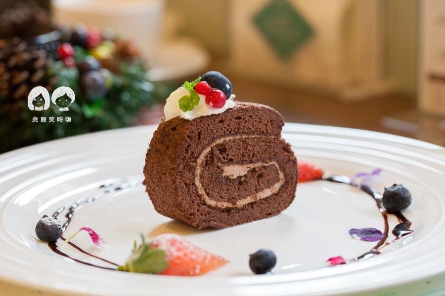 奇可小廚 聖誕新年特餐 起司巧克力瑞士捲