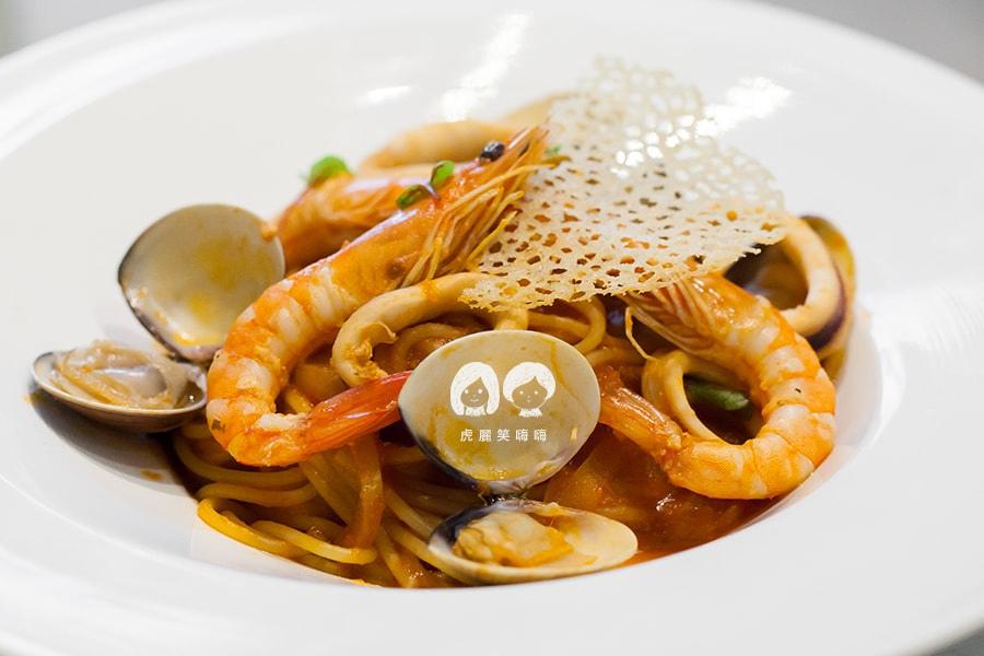 克洛普水素水餐廳 漁夫風味蕃茄海鮮義大利麵 NT240