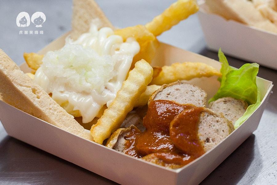 瑞豐夜市 德沃斯 手工德國香腸+自製番茄咖哩醬+薯條 TN99大/79小