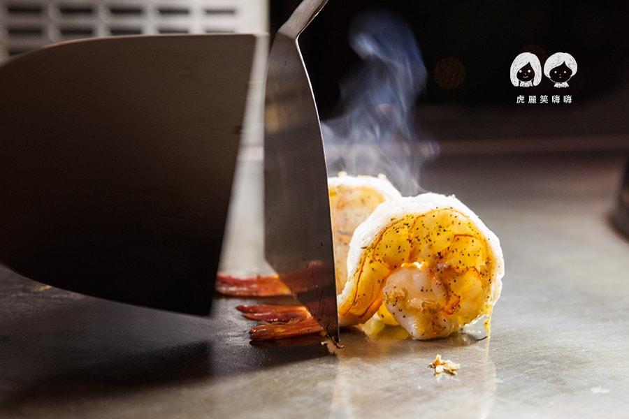 君鴻酒店38樓鐵板燒 明蝦海鮮冷盤