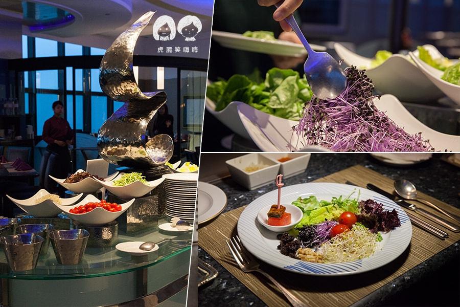 君鴻酒店38樓鐵板燒 招牌歐日風潮莎拉前菜吧