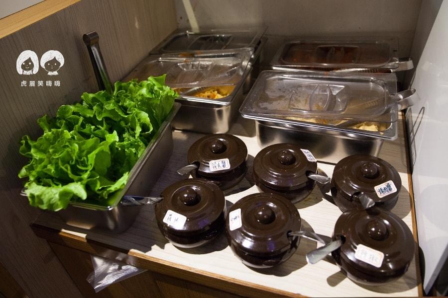 高雄 韓式料理 韓國料理 吃到飽 槿韓食堂 沾醬區