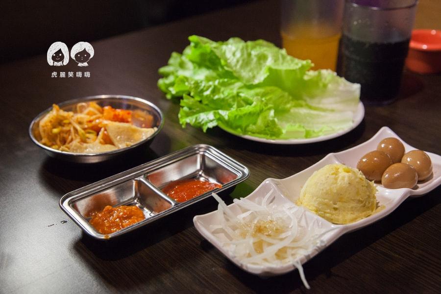高雄 韓式料理 韓國料理 吃到飽 槿韓食堂 生菜包肉