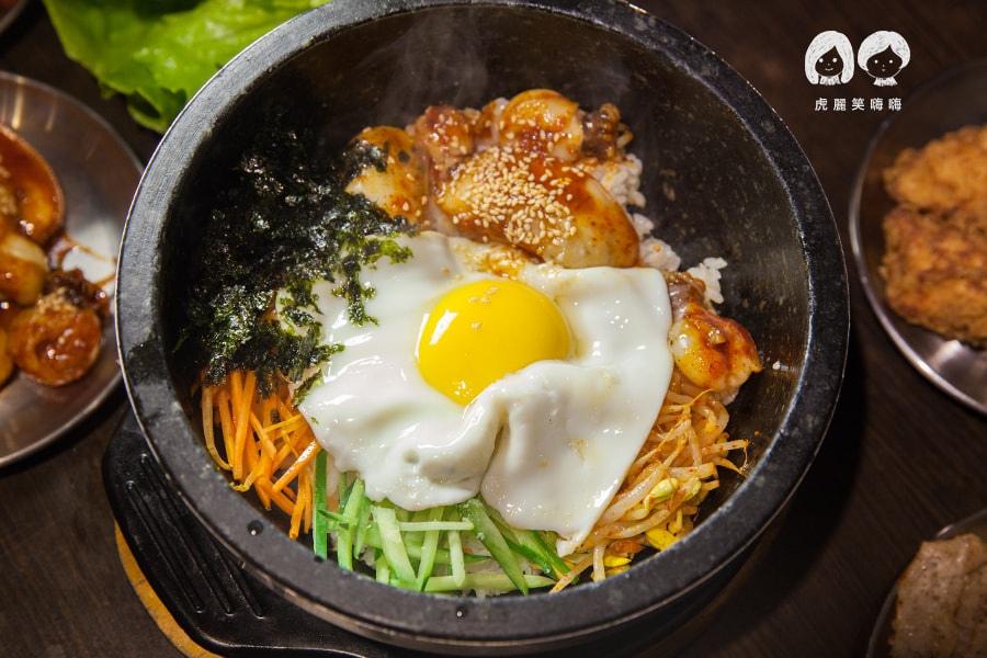 高雄 韓式料理 韓國料理 吃到飽 槿韓食堂 石鍋花枝飯