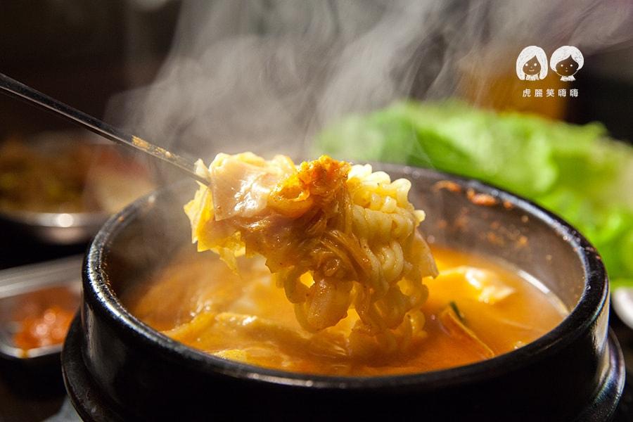 高雄 韓式料理 韓國料理 吃到飽 槿韓食堂 部隊鍋