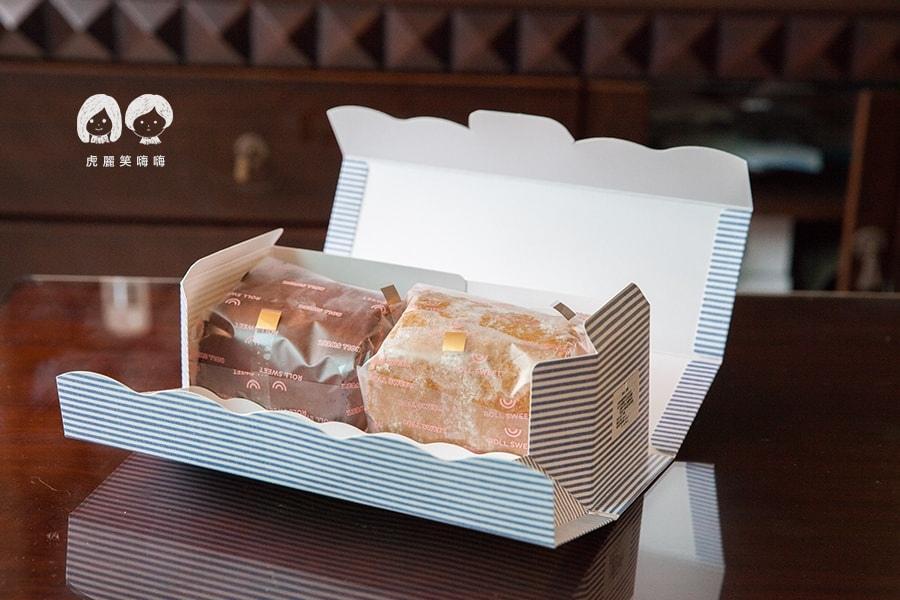台南 蛋糕捲 蝴蝶餅 生巧克力 Roll Sweet 手作甜點  蛋糕捲 綜合$280  生巧克力1/2捲+榛果咖啡1/2捲