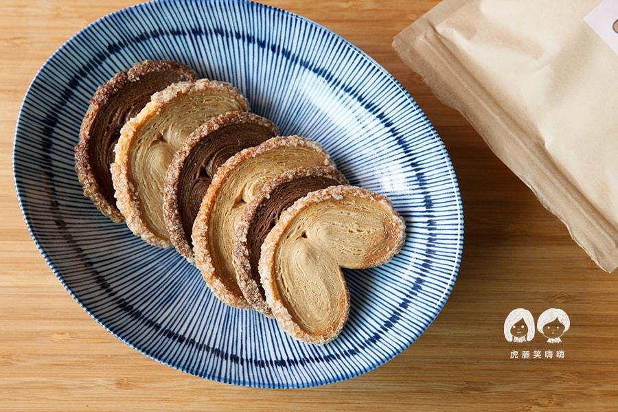 台南 蛋糕捲 蝴蝶餅 生巧克力 Roll Sweet 手作甜點 手做餅乾類  蝴蝶酥 原味 $180