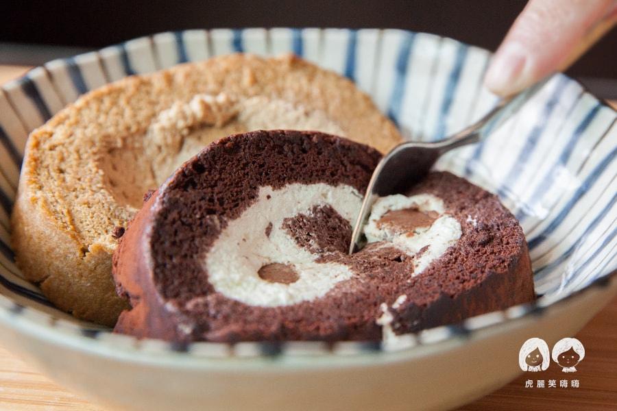 台南 蛋糕捲 蝴蝶餅 生巧克力 Roll Sweet 手作甜點 蛋糕捲  生巧克力1/2捲