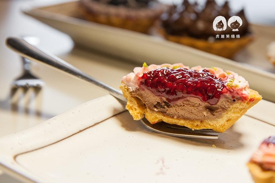 高雄 甜點 派 水果塔 小螞蟻手作烘焙坊  覆盆子巧克力塔 NT55