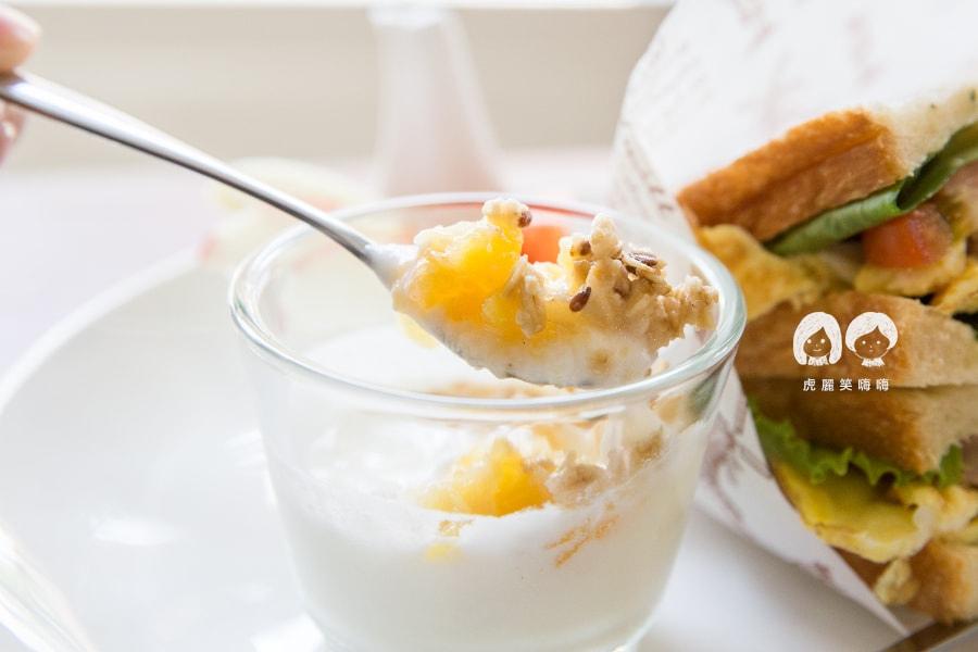 鳳山 三誠路 野好 早午餐 自製無糖優格佐燕麥與手工果醬