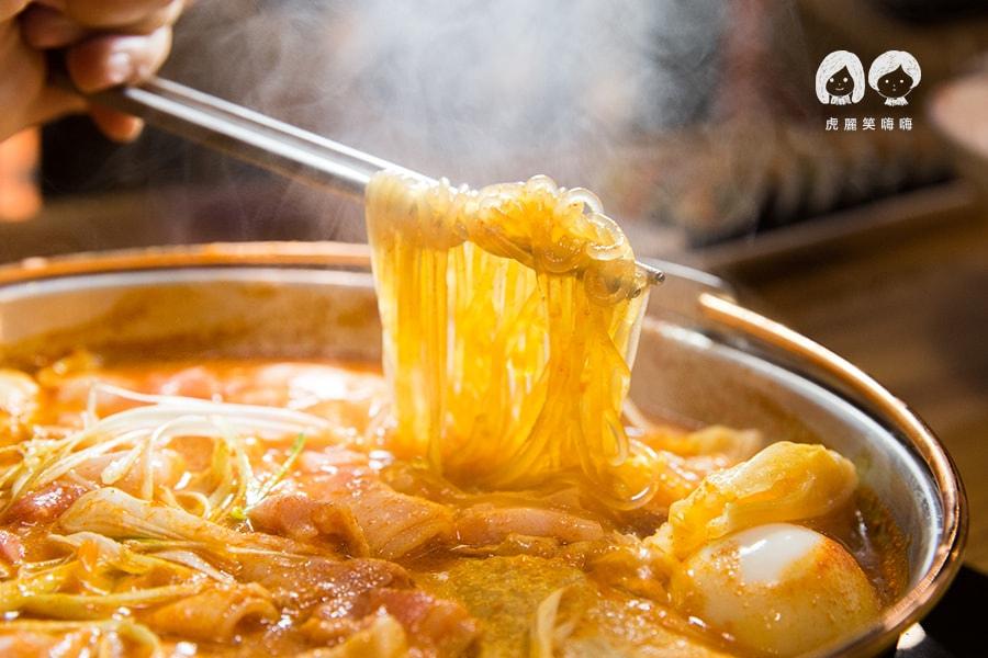 泰一格 年糕火鍋 韓式料理 漢神 巨蛋 薄片五花肉年糕火鍋 小 NT458