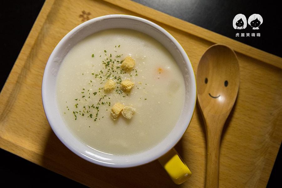 安窩咖啡 高雄 左營 早午餐 升級套餐 心情濃湯