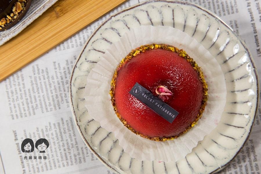 法絨法式手工甜點工作室 Velvet Patisserie 高雄 甜點 推薦 桂花柚香莓果塔 NT$150