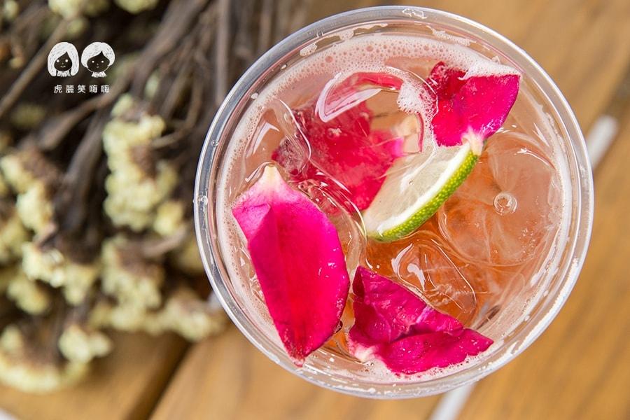 小拍子飲品製造所 氣泡飲 台南 中西區 花樣年華 NT60 玫瑰蘋果醋 蜂蜜 有機天然新鮮玫瑰