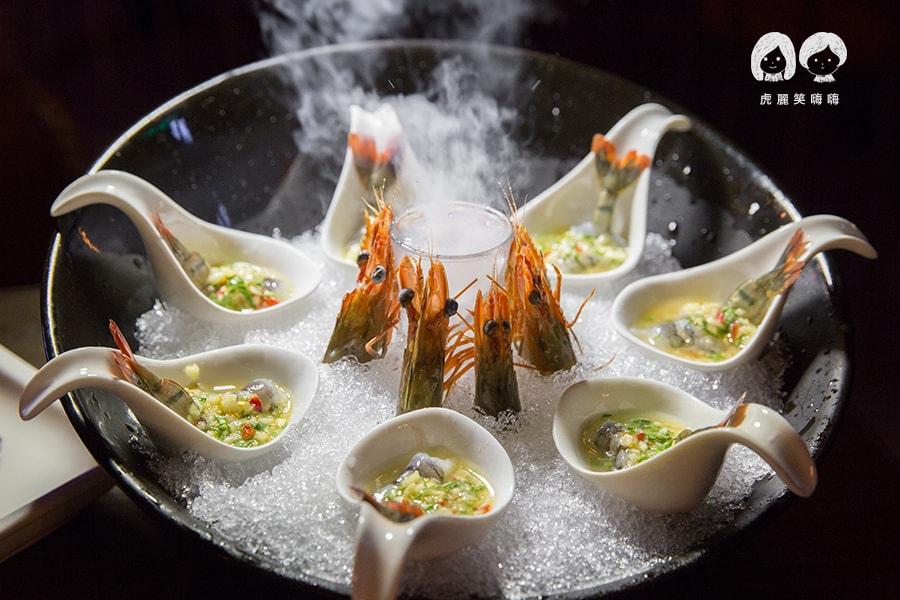 泰閣 老虎餐廳 Tiger 高雄 新興區 泰式料理 冰凍酸辣生蝦 NTD320