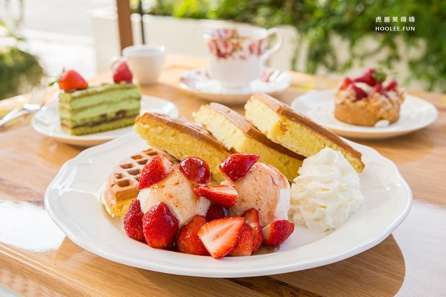 老歐洲咖啡館 草莓冰淇淋鬆餅 NTD220