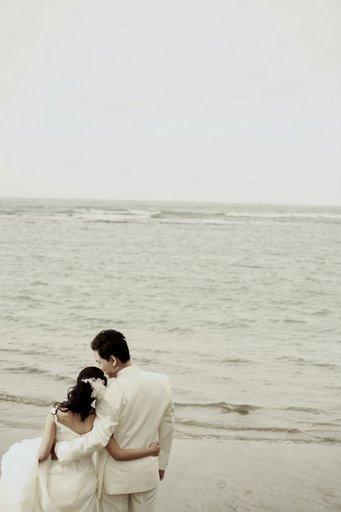 海邊、細語、依偎